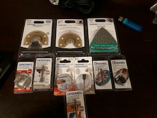 assorted Dremel product package lot