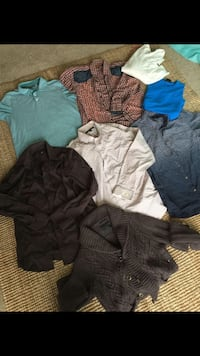 Men size med all expansive brands shirts n sweaters lot  Calgary, T3K