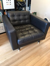 Ikea black sofa