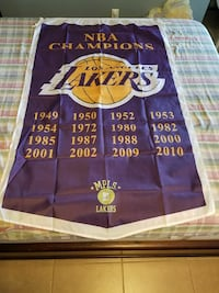 3FTX5FT Los Angeles Lakers championship Banner