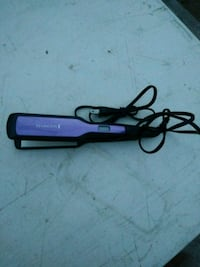 black and purple hair straightener