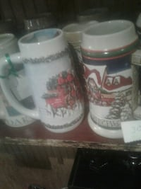 several white ceramic beer steins Kearneysville, 25430