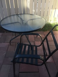 Free patio table and one chair Edmonton, T6J 3T3