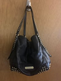 Burberry Black Lesther /Gold Studded Purse