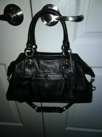 black Coach leather 2-way bag