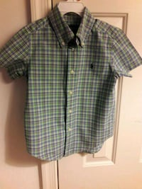 Boy's white and black plaid button-up shirt Bowie, 20716