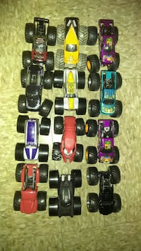 Monster truck toy collection