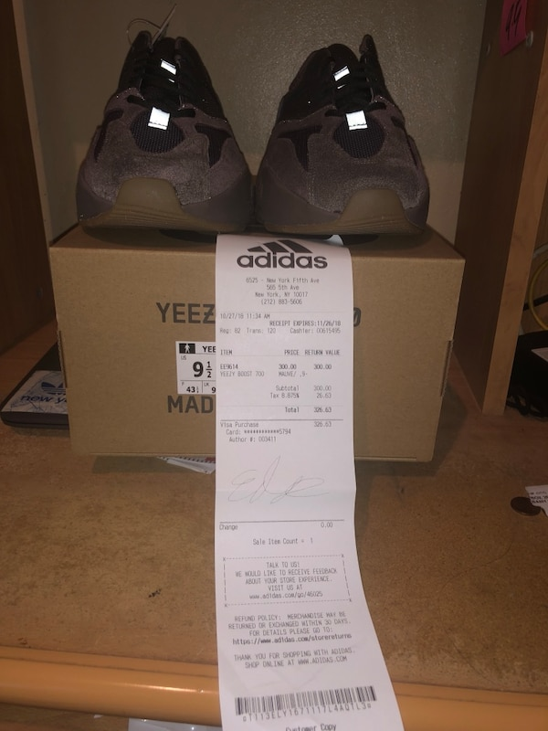 8c9e6a48c Used Adidas yeezy 700 Mauve size 9.5 for sale in New York - letgo