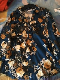 Blue and brown floral long sleeve dress Millsboro, 19966