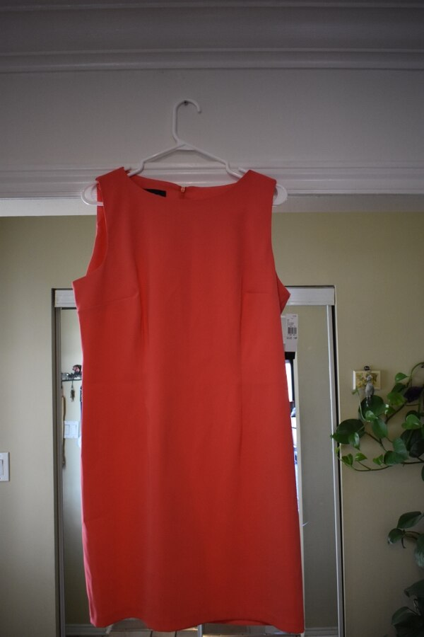 Dark Pink sleeveless dress (Size: 16)