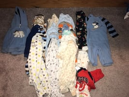 3/6 month pjs and cloths