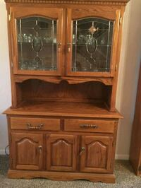 brown wooden framed glass display cabinet Antioch, 94531