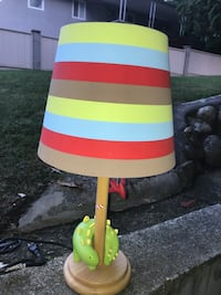 White, yellow, and green table lamp Coquitlam, V3J 3R1
