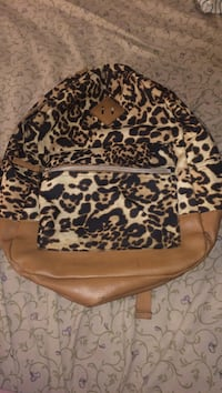 brown and black leopard print backpack Denver, 80204