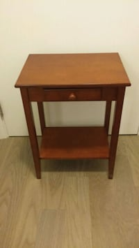 brown wooden single-drawer end table Toronto, M8Y 3H8