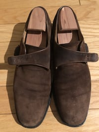 Salvatore Ferragamo brown suede monk strap dress shoes Mens 11 1/2 Arlington, 22203