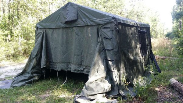 Army tent Command Post