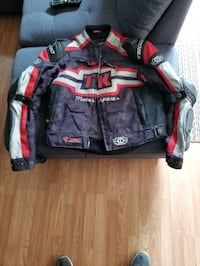 Motorcycle jacket TK Motorsports with brand pants Hamilton