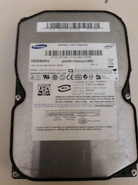 Samsung 80 Gb Sabit disk Zafer, 06900