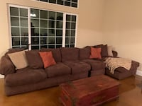 brown fabric sectional sofa with throw pillows Turlock, 95382