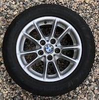 Four BMW rims and tires Williamsburg, 23188