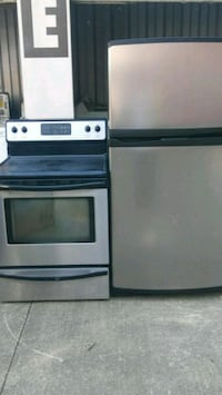 Stainless steel fridge & electric stove Euclid