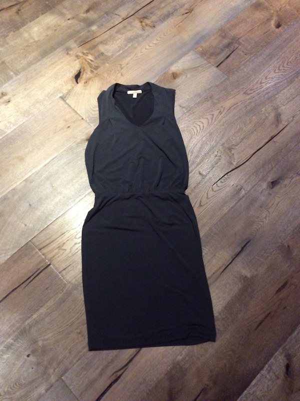 Charcoal sleeveless midi dress