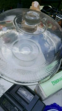 round clear glass bowl with lid 932 mi