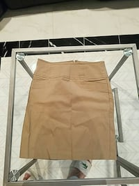 brown and white mini skirt 43 km