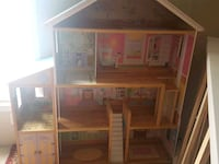 brown wooden 4-storey dollhouse Woodbridge, 22192