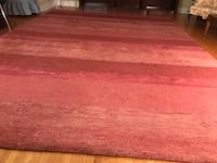 "Beautiful Elte 10x14 ""Ferell Red"" Wool Carpet Toronto, M9C 1P7"