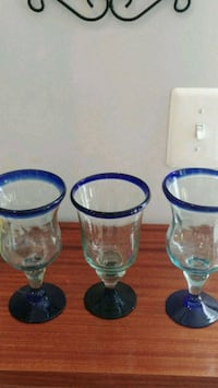 Hand blown glasses King George, 22485