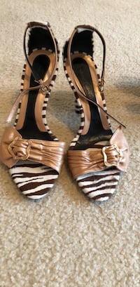 Cindy Says size 8 auth zebra and leather shoes  Oakland, 94602