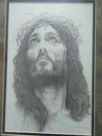 Framed sketch of Jesus Houston, 77085