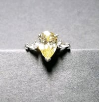 Sterling silver crystal ring size 8 Albuquerque, 87109