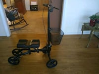 black and gray knee scooter