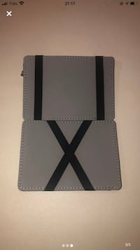 Grey Wallet, Coin Purse, Money and Card Holder