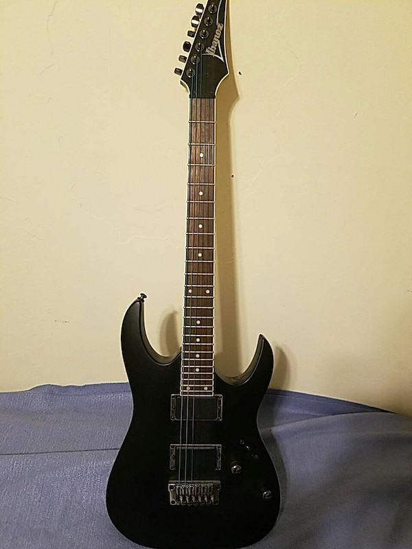 Used Black Ibanez Superstrat Electric Guitar For Sale In New Jersey