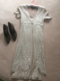 size 4 dress and shoe size 8 worn once for wedding. $50 for both  Milton, L9T 2V6
