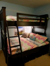 Paula Deen Twin over Full Bunk Beds and 5 Drawer Chest
