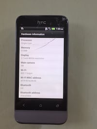 HTC ONE V cracked screen but works great Markham, L3S 3W6