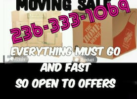 Moving Sale Everything Goess