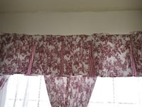 Red and white Waverly curtains Choctaw