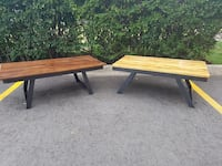 Two coffee tables for sale. Hand made. $200 for the dark pine,  and $240 for the light Maple. Kitchener, N2H 5R9