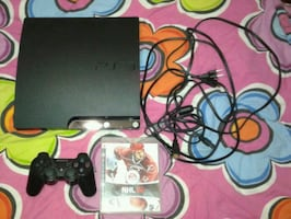 PS3 , 2-3 games and controller . Message for game selection