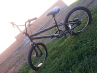 black and blue BMX bike Regina, S4S