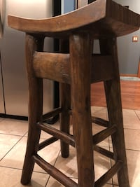brown wooden bar seat chair