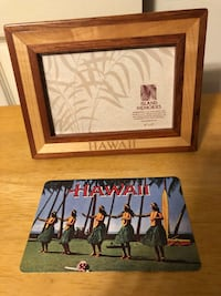 """Hawaii Rosewood 8x6"""" Pic Frame (holds 4x6"""" pic) and Hawaii Post Card Baltimore, 21236"""