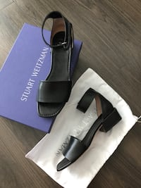 Stuart Weitzman Black Leather Sandals Vancouver, V7Y