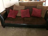 brown and black suede sofa UPR MARLBORO, 20774